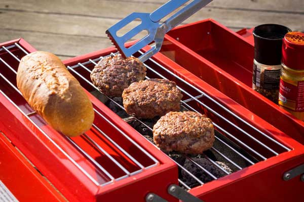 Kit completo portatile per barbecue