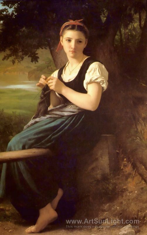 Tricoteuse [The Knitter] 1869 - Adolphe William Bouguereau