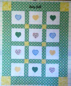 "Baby Quilt "" Piccolo Grande Amore"""